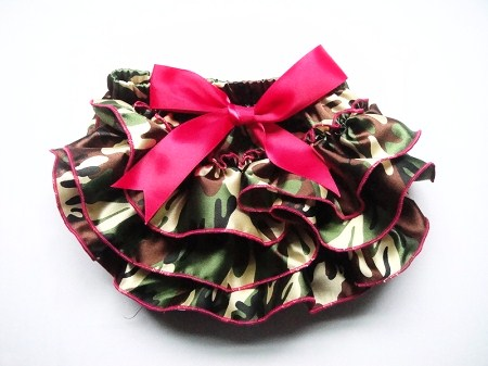 Infant Camo/Pink Bloomers